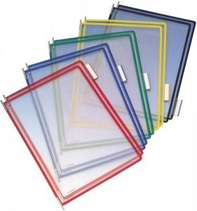 Panele prezentacyjne Tarifold, A4, 10 sztuk, mix kolorów