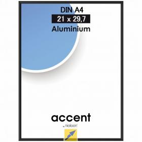 Ramka aluminiowa Basic Nielsen, A4, 1 sztuka, czarny