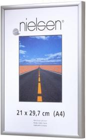Ramka aluminiowa Basic Nielsen, A4, 1 sztuka, stalowy połysk