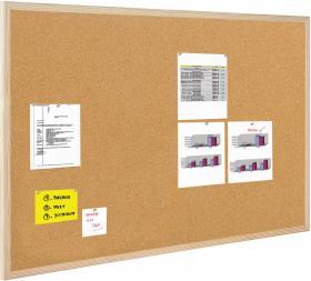 Tablica korkowa Bi-Office, w ramie drewnianej, 80x50cm, brązowy