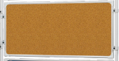 Tablica korkowa do ścianki moderacyjnej 2x3, w ramie aluminiowej, 120x90 cm, brązowy