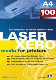 Folia do nadruku Argo, do drukarek laserowych, A4, 100 arkuszy, przezroczysty