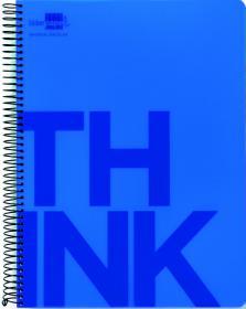 Kołonotatnik Liderpapel Think, A4, w kratkę, 160 kartek, niebieski