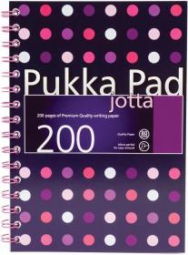 Kołonotatnik Pukka Pad Jotta Dots, A5, w kratkę, 200 kartek