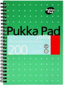Kołonotatnik Pukka Pad Jotta Metallic, A5, w kratkę, 200 kartek