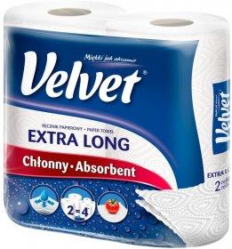 Ręcznik papierowy Velvet czysta biel najdłuższy, dwuwarstwowy, 2 rolki