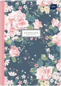 Brulion w kratkę Interdruk, A5, twarda oprawa, 160 kartek, mix wzorów