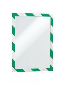 Ramka samoprzylepna magnetyczna Durable Duraframe Security, A4, 2 sztuki, zielono-biały
