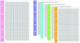 Wkład do segregatora w kolorową kratkę Interdruk, A5, 50 kartek, kolorowy margines