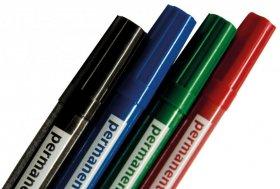 Marker do flipchartów 2x3, okrągła, 4 sztuki, mix kolorów