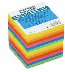 Kostka do notowania Donau, nieklejona, 90x90x90mm, 800 kartek, mix kolorów