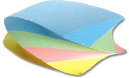 Kostka do notowania Interdruk, nieklejona, 85x85x35mm, 350k, mix pastelowy