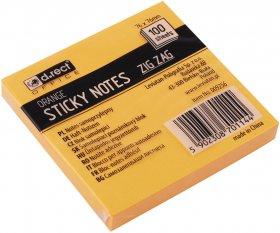 Notes samoprzylepny D.Rect Zig Zag, harmonijkowy, 75x75mm, 100 karteczek, pomarańczowy pastelowy