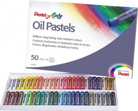 Pastele olejne Pentel, 50 kolorów