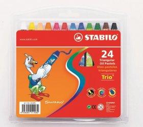 Pastele olejne Stabilo, 24 kolory