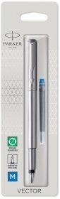 Pióro wieczne Parker, Vector, M,  0.7mm, blister, stalowy
