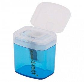 Temperówka z pojemnikiem Deli, plastik, 1 otwór, mix kolorów