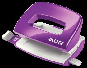 Dziurkacz Mini Leitz Wow, do 10 kartek, metaliczny fioletowy