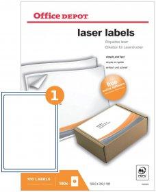 Etykiety do drukarek laserowych Office Depot 199.6 x 289.1 mm 100 arkuszy