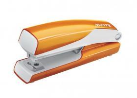 Zszywacz Leitz Mini WOW, do 10 kartek, metaliczny pomarańczowy