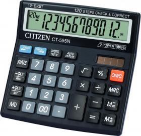 Kalkulator biurowy Citizen, CT-555N, 12 cyfr, czarny