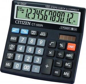 Kalkulator biurowy Citizen CT-555N, 12 cyfr, czarny