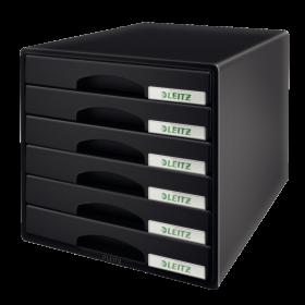 Pojemnik Leitz Plus, z 6 szufladami, do dokumentów, A4, czarny