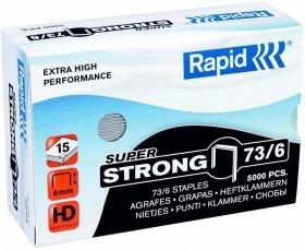 Zszywki Rapid Super Strong, 73/6, 5000 sztuk, srebrny