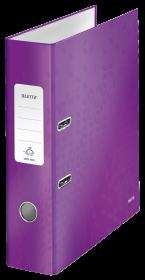 Segregator Leitz Wow 180°, A4, szerokość grzbietu 80mm, do 600 kartek, fioletowy