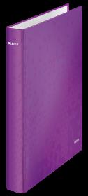 Segregator Leitz Wow, A4, szerokość grzbietu 40mm, do 230 kartek, 2 ringi, fioletowy