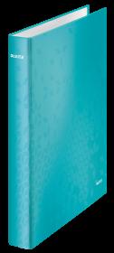 Segregator Leitz Wow, A4, szerokość grzbietu 40mm, do 230 kartek, 4 ringi, turkusowy