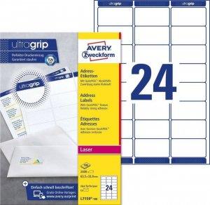 Etykiety adresowe Avery Zweckform QuickPeel, 63.5x33.9mm, 100 arkuszy, biały