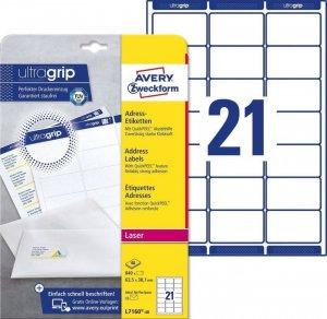 Etykiety adresowe Avery Zweckform QuickPeel, 63.5x38.1mm, 40 arkuszy, biały
