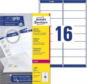 Etykiety adresowe Avery Zweckform QuickPeel, 99.1x33.9mm, 100 arkuszy, biały