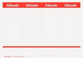 Etykiety grzbietowe Esselte PC, szerokie, do segregatorów, samoprzylepne, 59x192mm,10 arkuszy, biały
