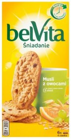 Ciastka zbożowe BelVita, musli, 300g