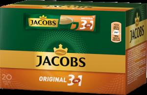 Kawa rozpuszczalna w saszetkach Jacobs 3w1, original, 20 sztuk x 15.2g