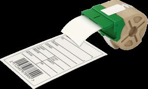 Kaseta z papierową samoprzylepną taśmą do drukowania etykiet Leitz Icon, 61 mm, biały