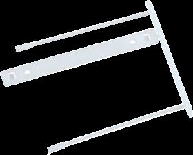 Klips archiwizacyjny Q-Connect Z-Clip, 70 mm, 1 sztuka, biały