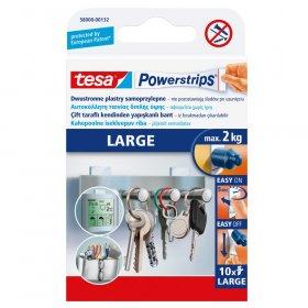 Plastry mocujące Tesa Powerstrips, 10 sztuk, biały