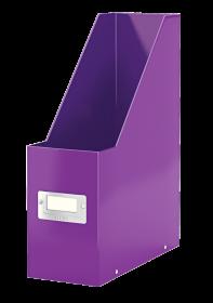 Pojemnik Leitz Wow Click&Store, A4, 95mm, do 950 kartek, fioletowy