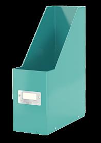 Pojemnik Leitz Wow Click&Store, A4, 95mm, do 950 kartek, turkusowy