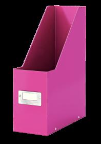 Pojemnik Leitz Wow Click&Store, A4, 95mm, do 950 kartek, różowy