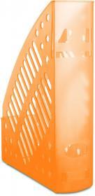 Pojemnik na dokumenty Donau, A4, 70mm, do 700 kartek, transparentny pomarańczowy
