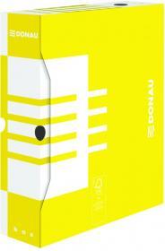 Pudło archiwizacyjne Donau, 80mm, żółty