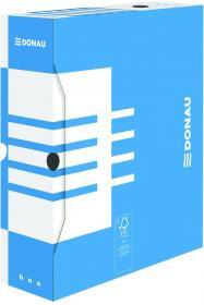 Pudło archiwizacyjne Donau, do luźnych dokumentów, 100mm, niebieski