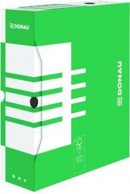 Pudło archiwizacyjne Donau, do luźnych dokumentów, 100mm, zielony