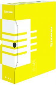 Pudło archiwizacyjne Donau, do luźnych dokumentów, 100mm, żółty