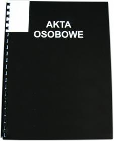 Teczka do akt osobowych Interdruk, A4, 350g/m2, czarny