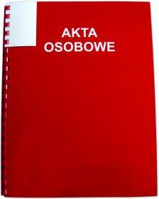 Teczka do akt osobowych Interdruk, A4, 350g/m2, czerwony